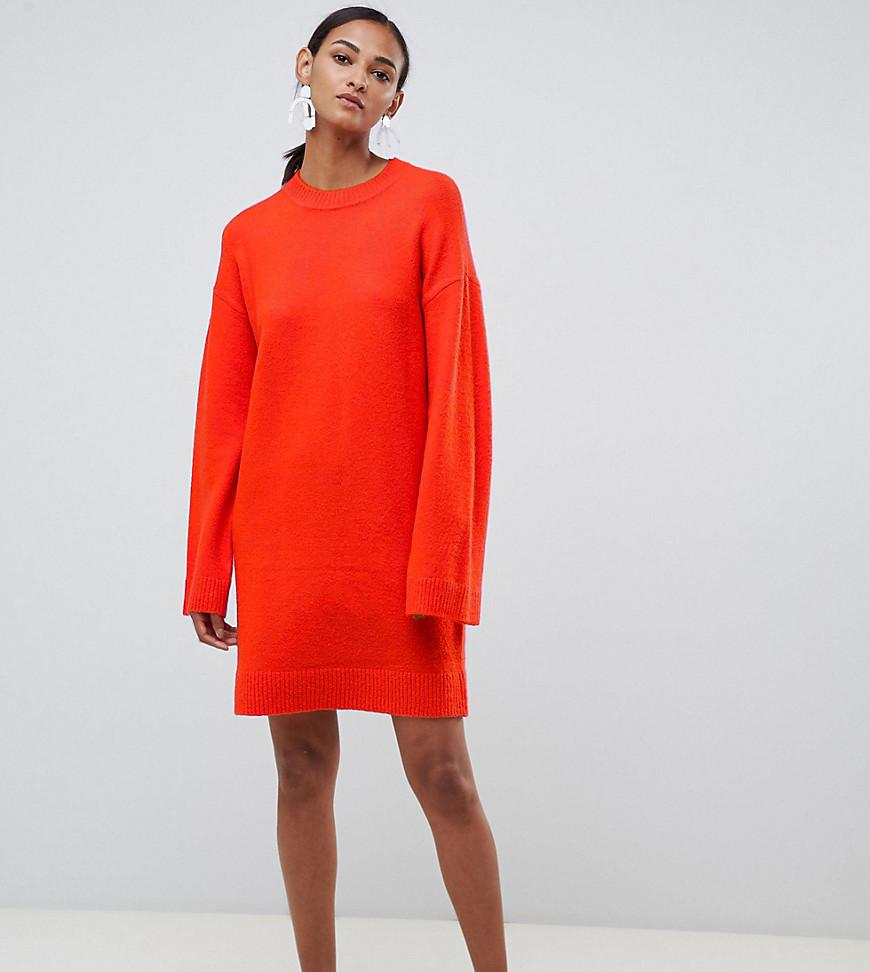 ee9cc0729e72 Lyst - ASOS Asos Design Tall Knitted Mini Dress In Fluffy Yarn in Red