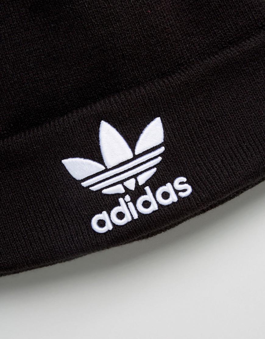 2998eea3cb9 Lyst - adidas Originals Trefoil Beanie In Black Bk7634 in Black for Men