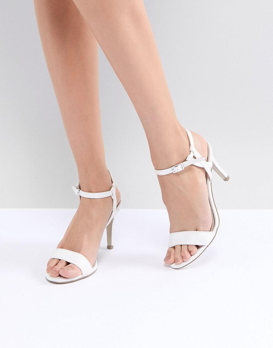 Stud Minimal High Sandal - White New Look TkTqZ3V7Q