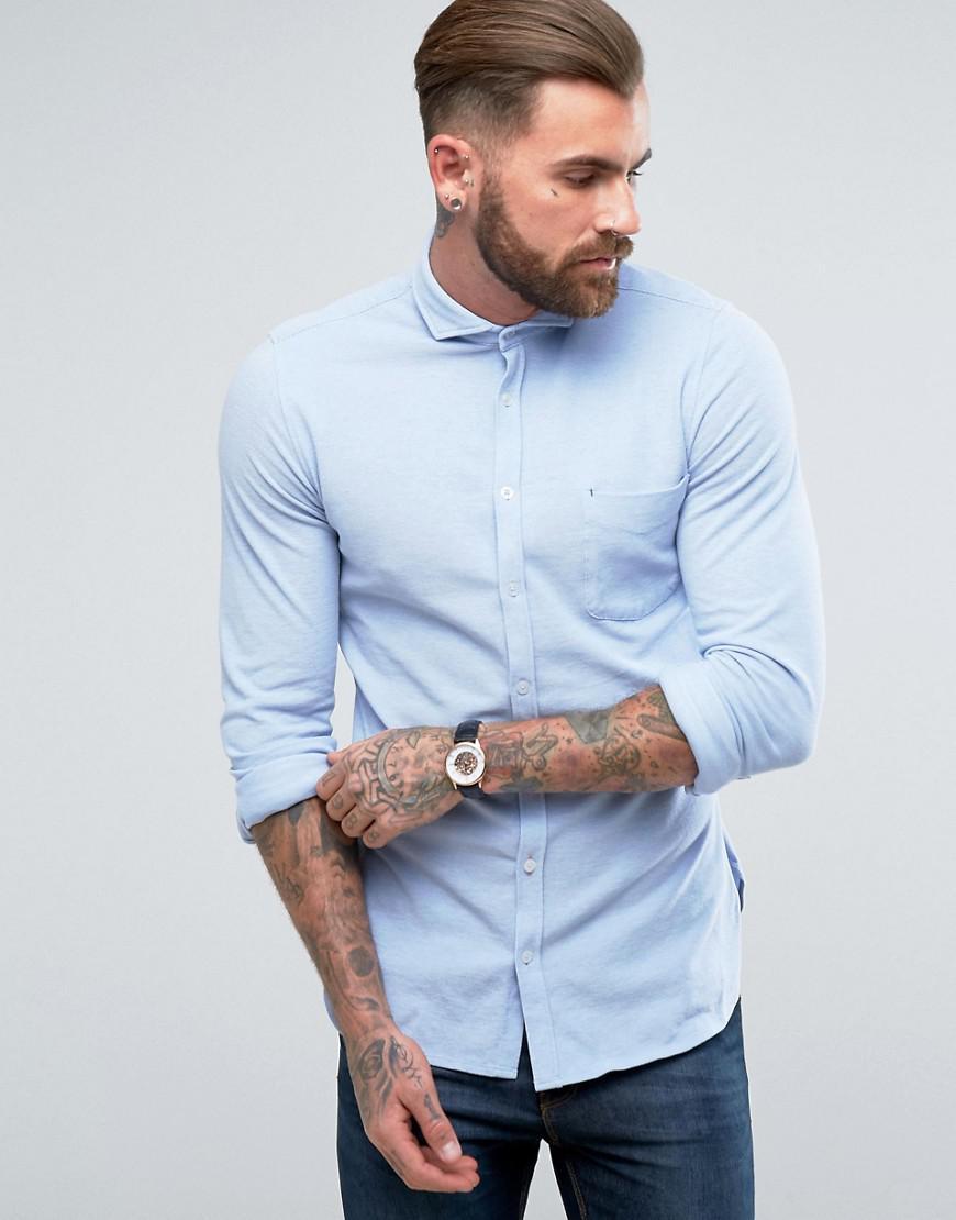 dcc18efc BOSS Orange By Hugo Boss Cattitude Slim Fit Stretch Shirt Blue in ...