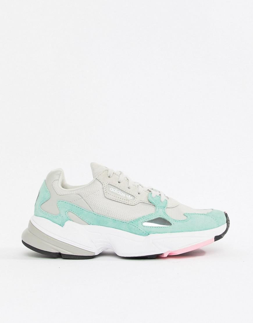 680990dbdd3f Lyst - adidas Originals Falcon Sneaker In Gray And Mint in Gray