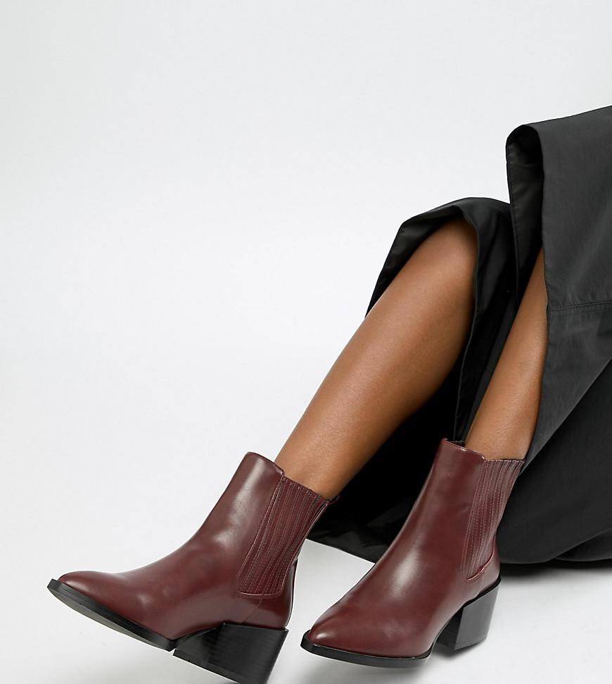030e83f2195 Lyst - ASOS Reese Pointed Chelsea Boots in Red