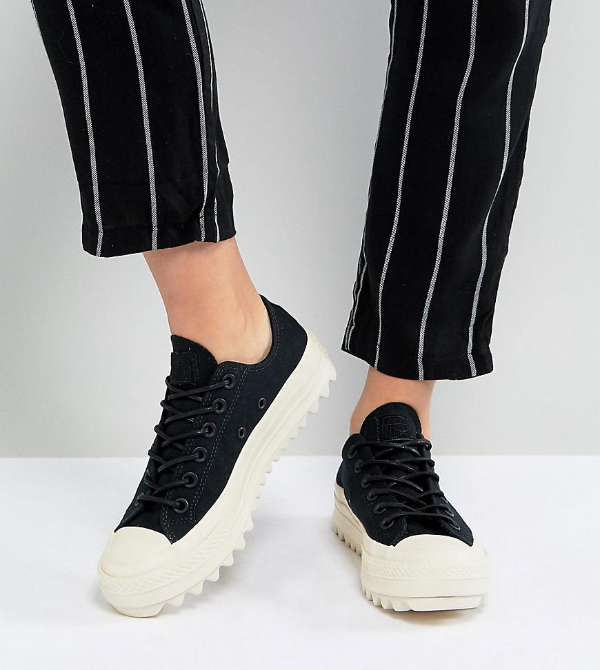 743bc463fa5 Converse Chuck Taylor All Star Lift Ripple Ox Sneakers In Black in ...