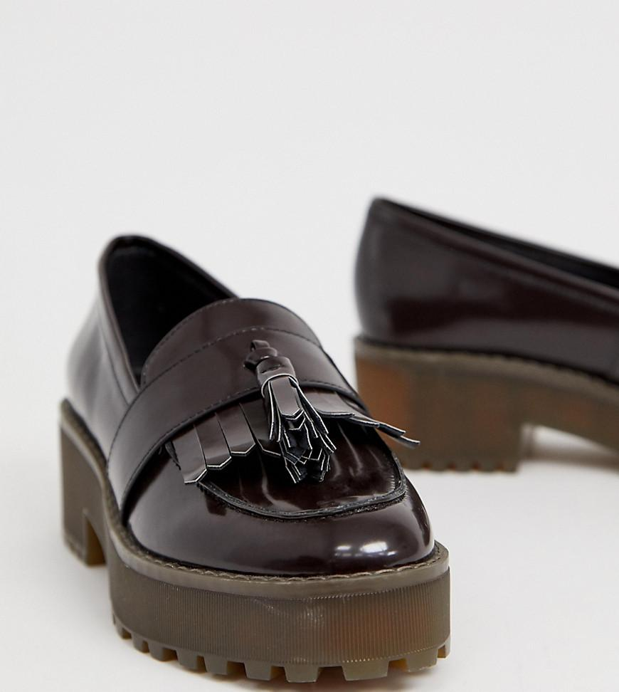 7d3c3ce19f9 Lyst - Monki Flatform Loafer In Dark Brown in Brown