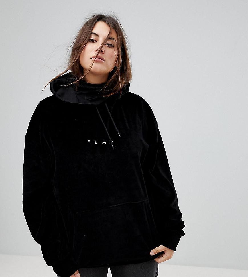 Lyst - Puma Exclusive To Asos Plus Velvet Hoodie In Black in Black