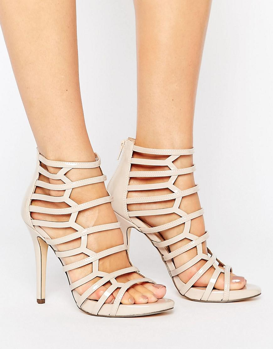 029359a138c Call It Spring Astausien Cut Out Heeled Sandals in Natural - Save ...