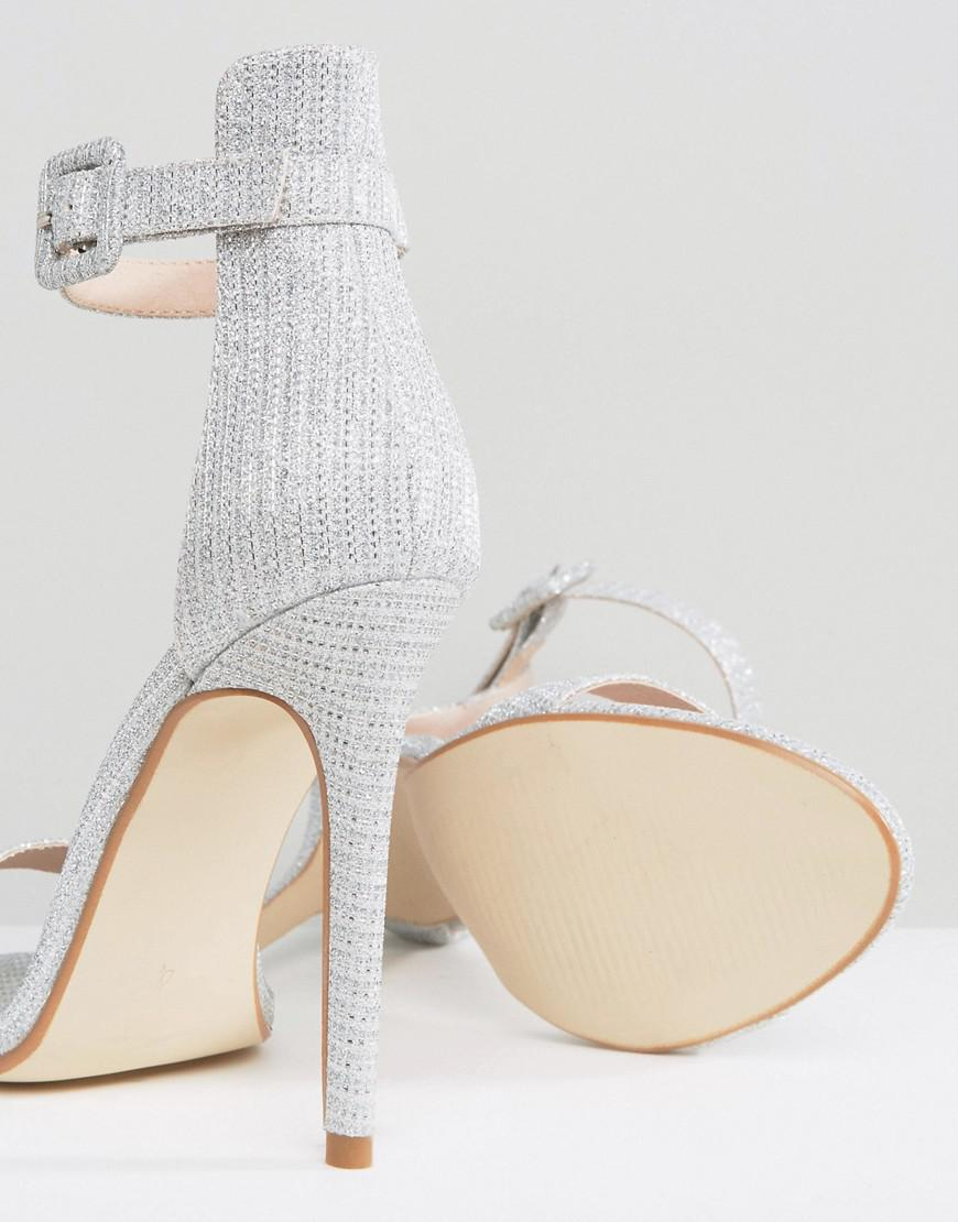 f88cae48e92c Lyst - Public Desire Crystal Silver Heeled Sandals in Metallic