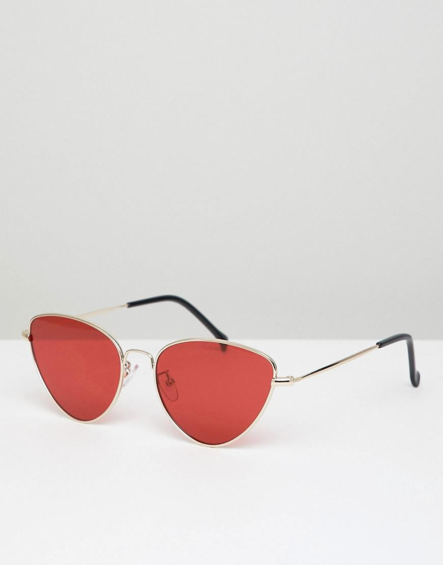 a4bbb15a8a3b A.J. Morgan Metal Cat Eye Sunglasses In Gold/red in Metallic for Men ...