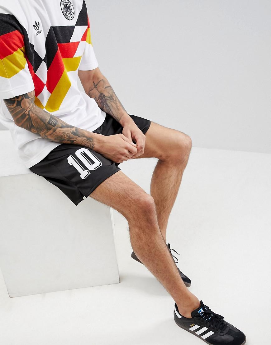 Retro Germany Football Shorts In Black CE2336 - Black adidas Originals 62gu2Ko5X