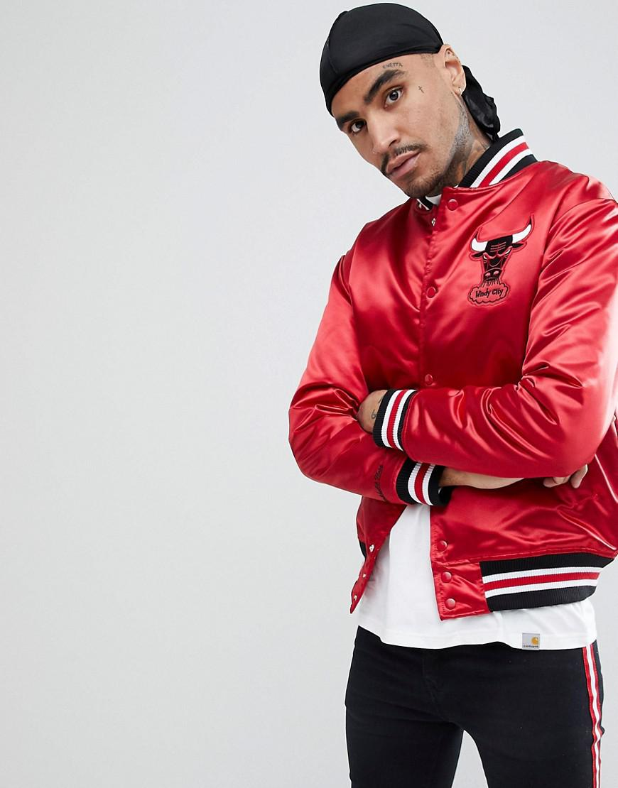 f08451314f2 Mitchell   Ness Nba Chicago Bulls Satin Jacket in Red for Men - Lyst