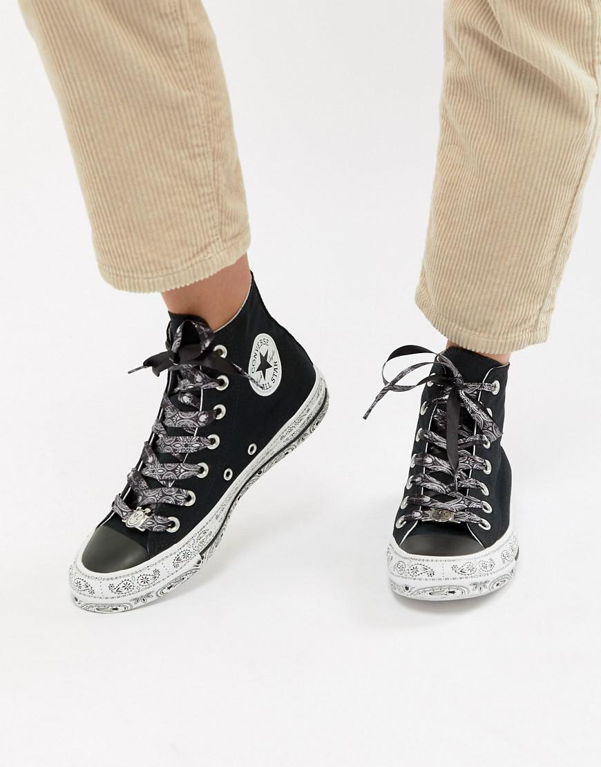 78aae24ef10e Lyst - Converse X Miley Cyrus Chuck Taylor All Star Hi Trainers In ...