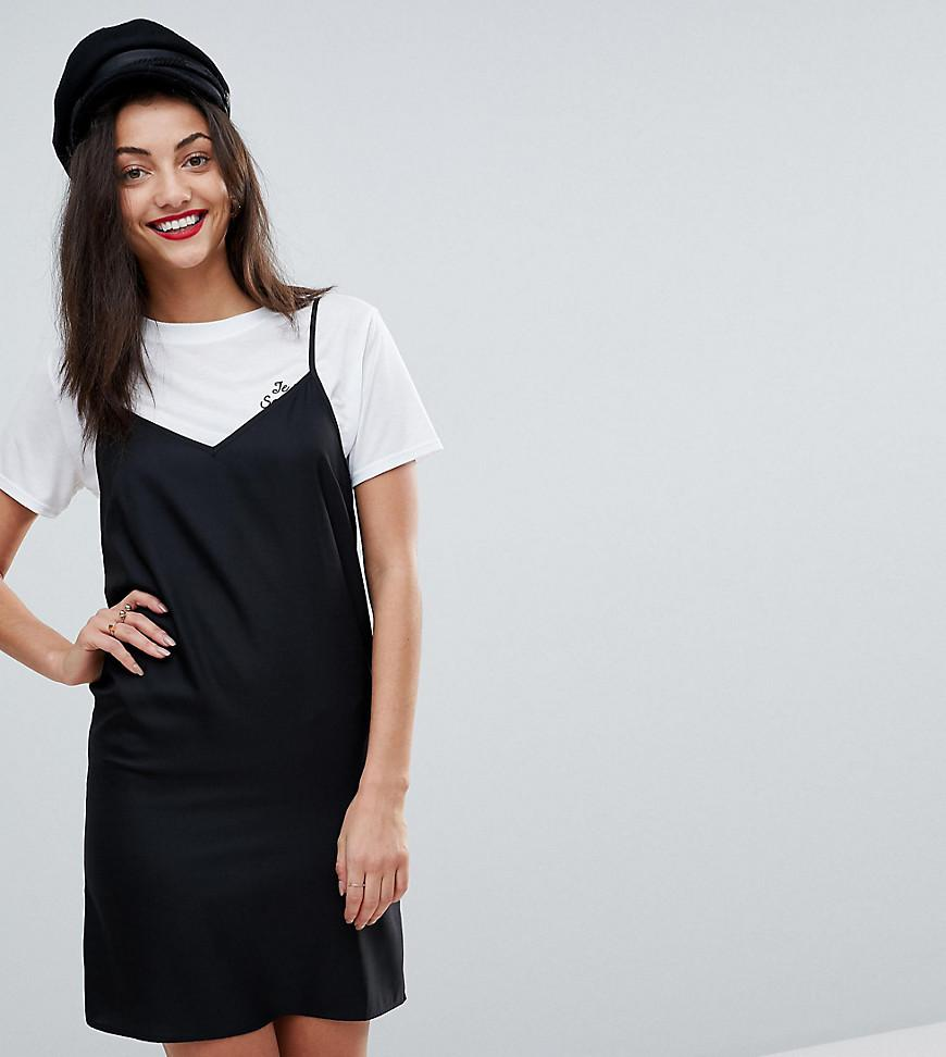 635f6a841735 ASOS Mini Cami Slip Dress in Black - Lyst