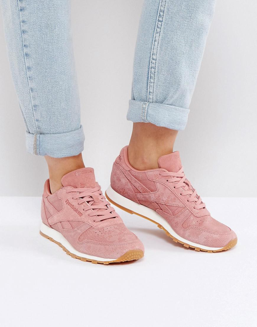 Classic Nubuck Leather Trainers In Pink - Pink Reebok Cheapest Cheap Price Sale Pay With Paypal Cheap Sale Many Kinds Of AW0l31W