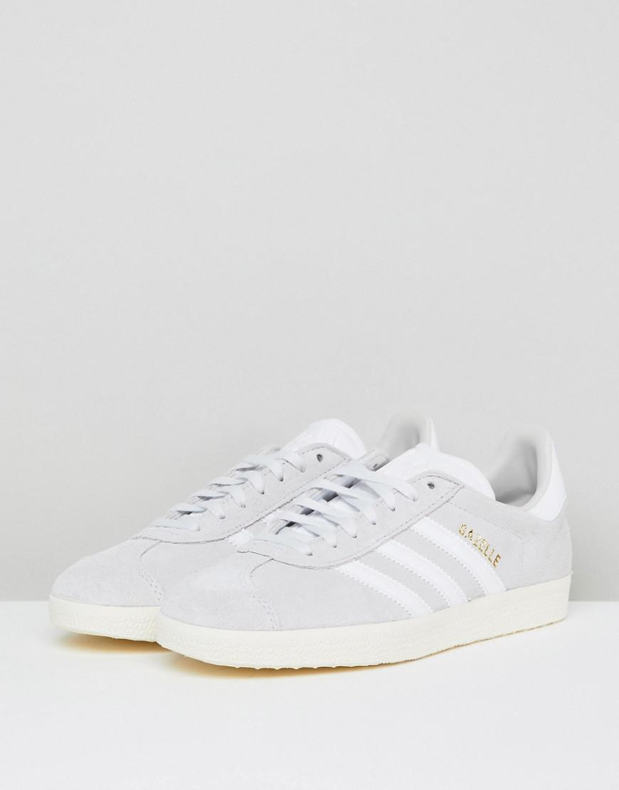 6e5b54363ac935 Lyst - adidas Originals Gazelle Sneakers In Pale Gray in Gray