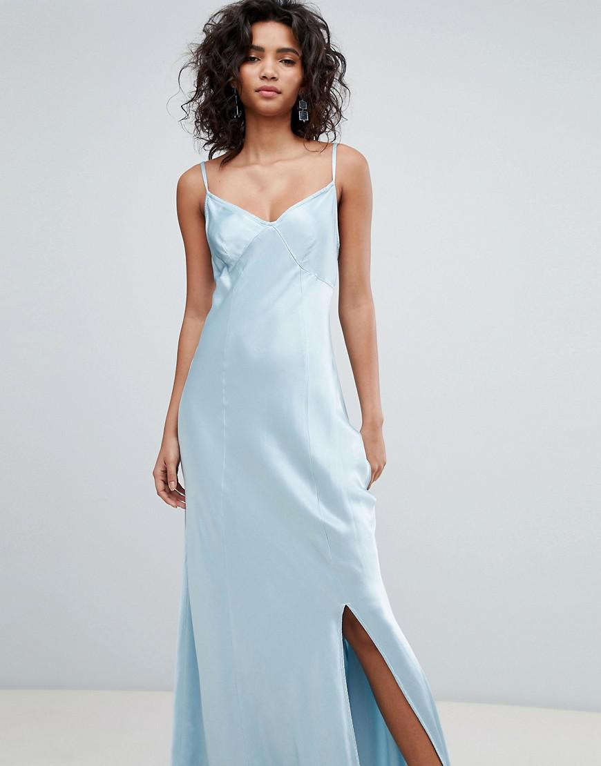 Ghost bridesmaid satin maxi cami dress