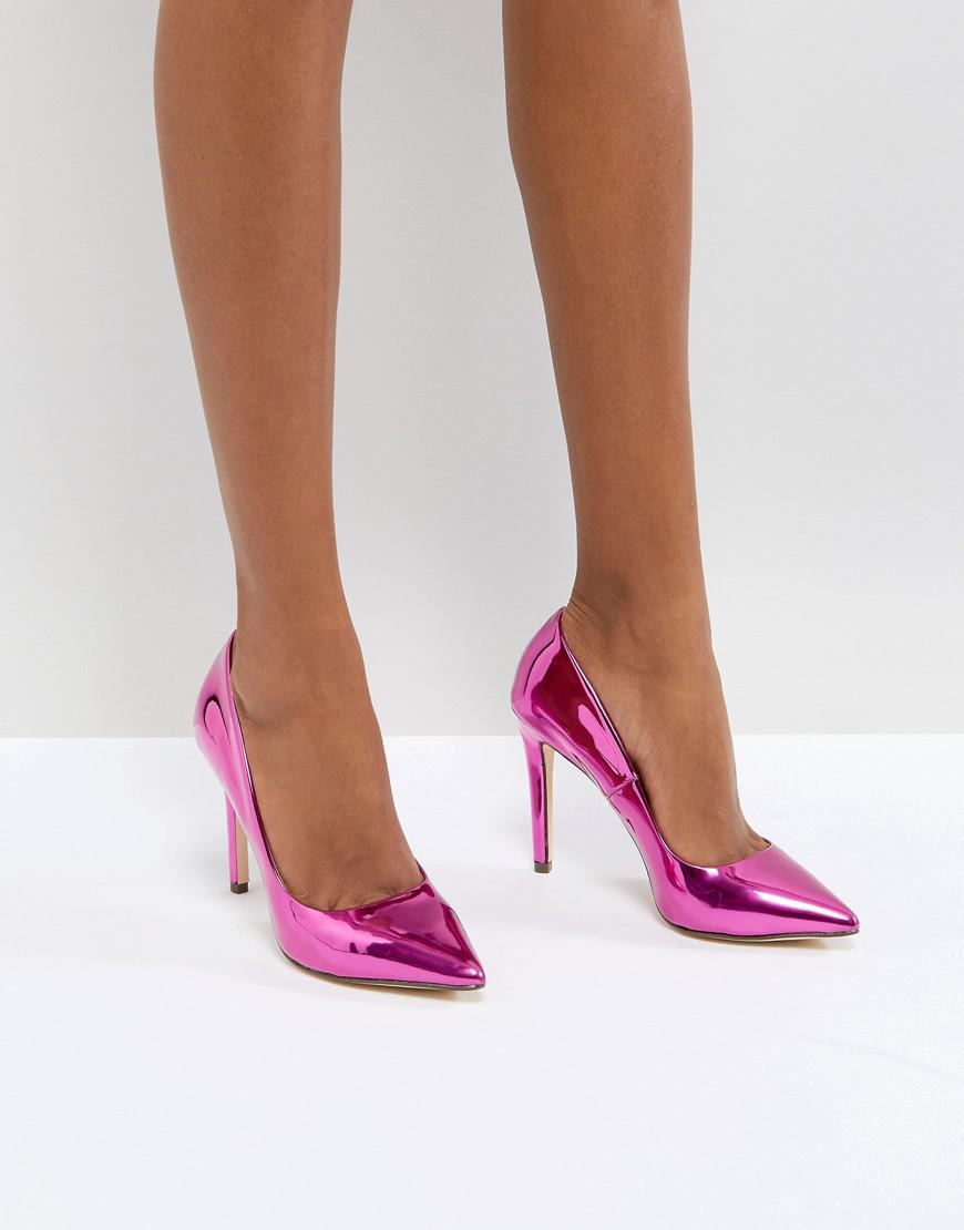 Call It Spring Gwydda Pink Metallic Court Shoes - Pink Call It Spring h4QzTDhP3y