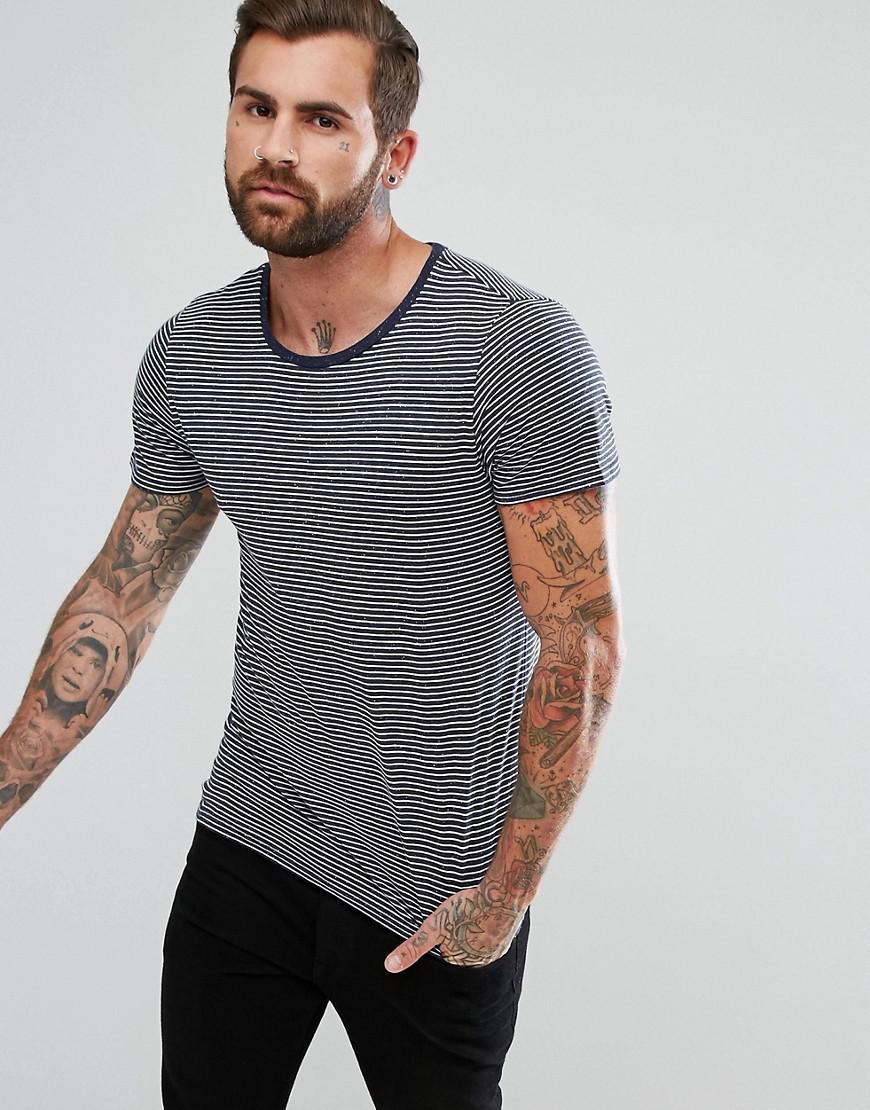 7178b57bab Lee Jeans Jeans Stripe Pocket T-shirt In Fleck Navy in Blue for Men ...