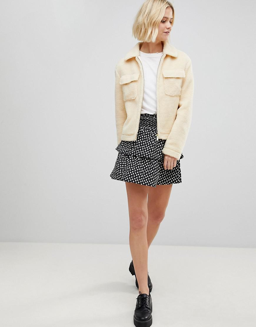 3a1330f9b Lyst - Vero Moda Floral Flippy Skirt
