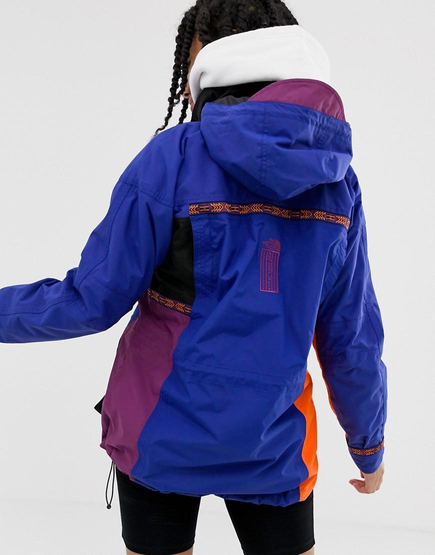 Lyst - The North Face 92 Retro Rage Rain Jacket In Aztec Combo in Blue 5b2fcd890