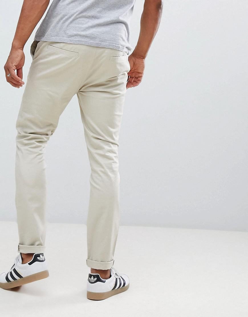 b06312d3b5249f ASOS Skinny Chinos In Beige in Natural for Men - Lyst