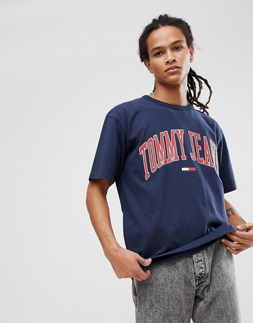c9fb952eaea335 Hilfiger Denim Tommy Jeans Collegiate Capsule T-shirt In Navy in ...