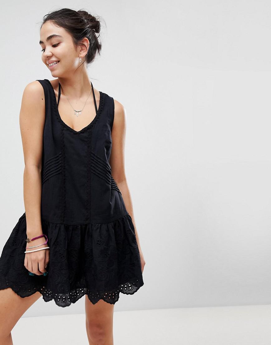 c4c1d4321f45e MINKPINK Gardenia Tiered Mini Beach Dress in Black - Lyst