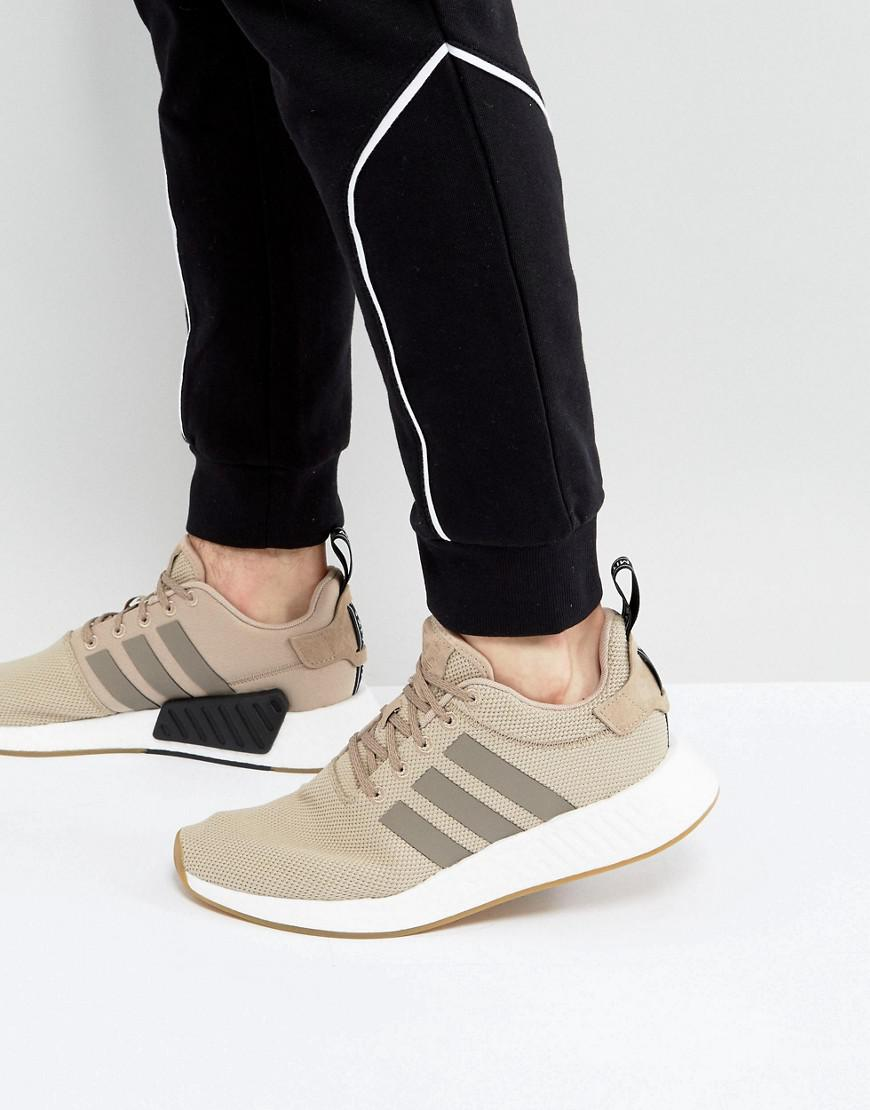 sports shoes 92ba4 f19b5 Lyst - adidas Originals Nmd R2 Sneakers In Beige By9916 in Natural ...