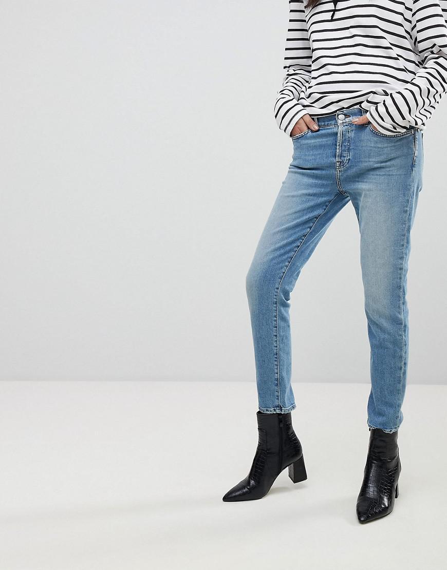 Josefina Fitted Boyfriend Jeans - Eclipse blue 7 For All Mankind GamOGWUF