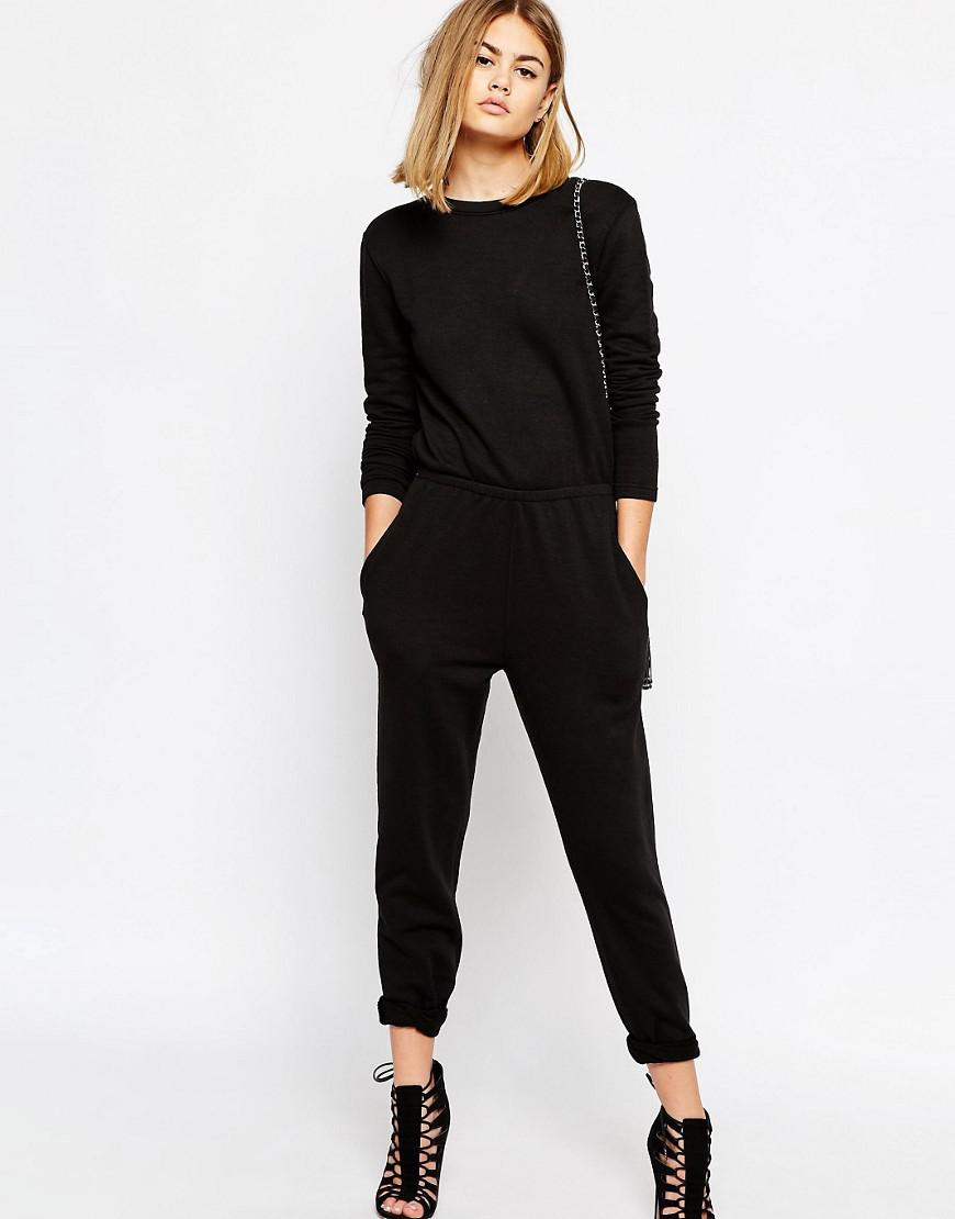 dd5c562b600 Lyst - Daisy Street Relaxed Jumpsuit With Wrap Back - Black in Black