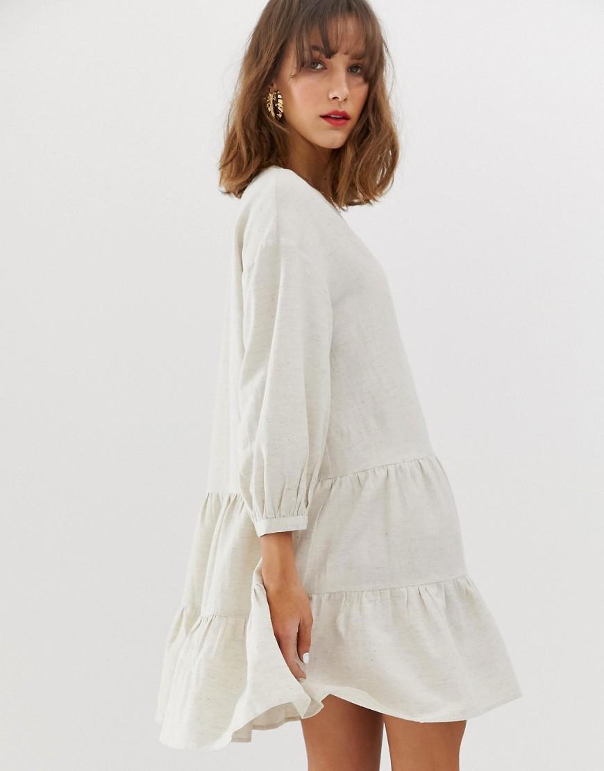 462500aa180859 Vero Moda Linen Smock Dress - Lyst