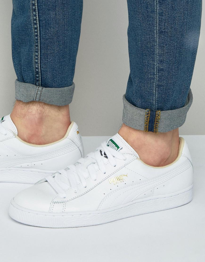 cd200acc2fc Lyst - PUMA Basket Classic Trainers In White 35436717 in White for Men