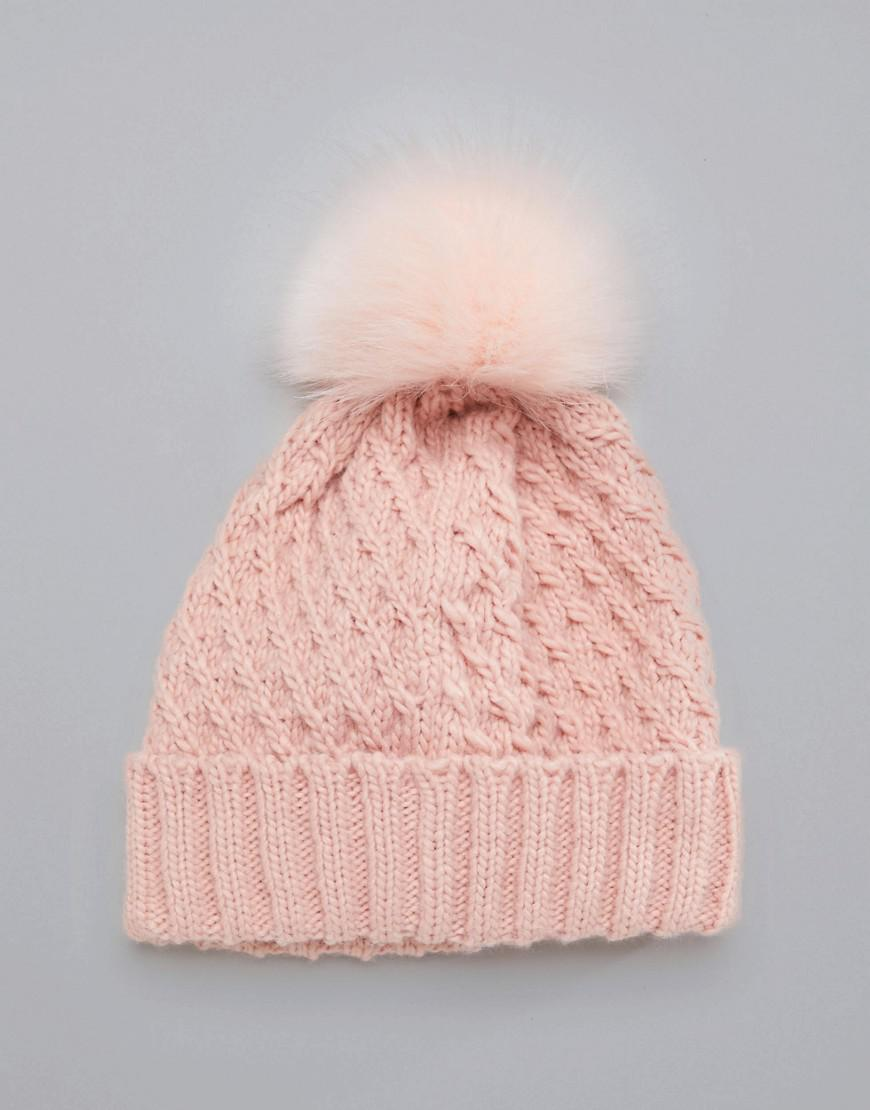 Lyst - Roxy Blizzard Beanie Hat In Pink in Pink 73da30065a5b