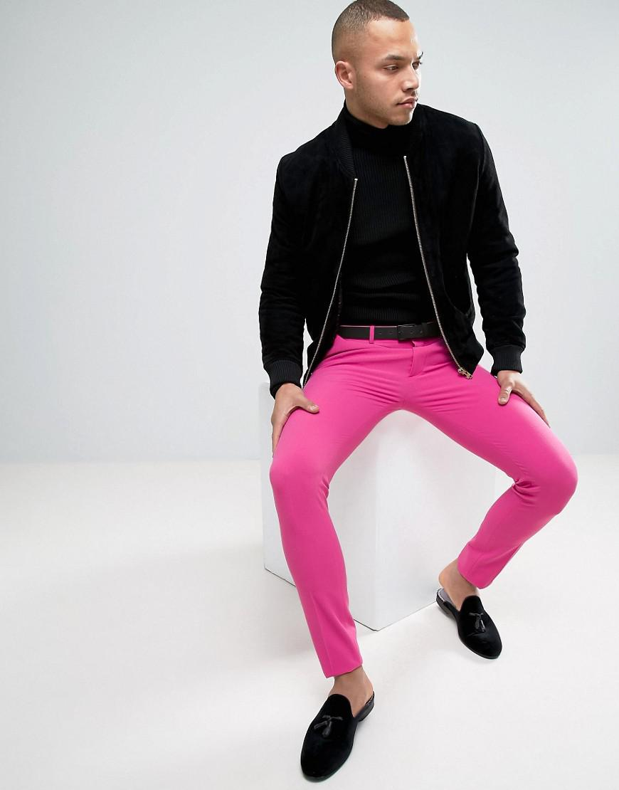 Lyst - Asos Super Skinny Prom Suit Pants In Pink in Pink for Men