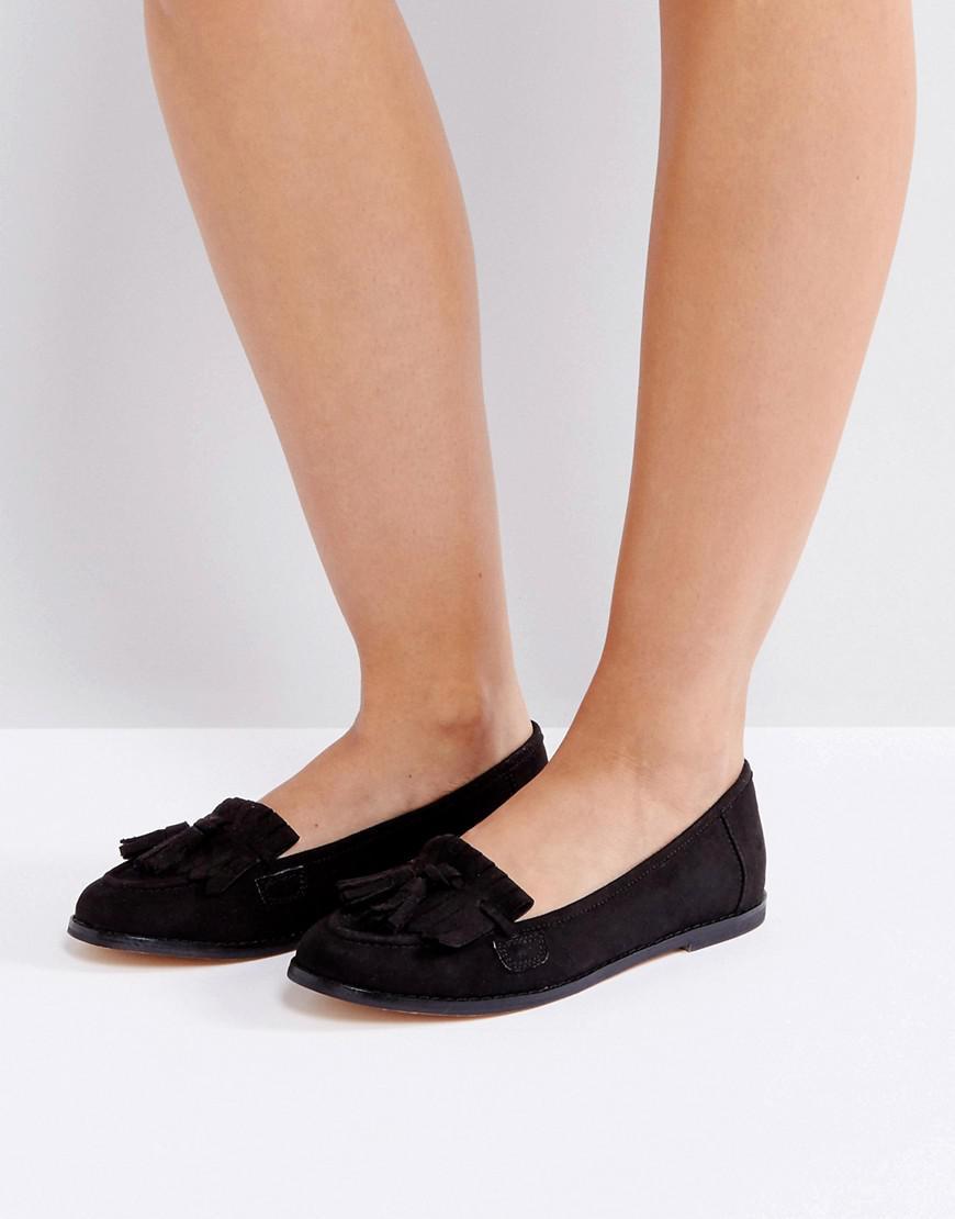 London Rebel Fringe Tassle Loafers YOf03Hm