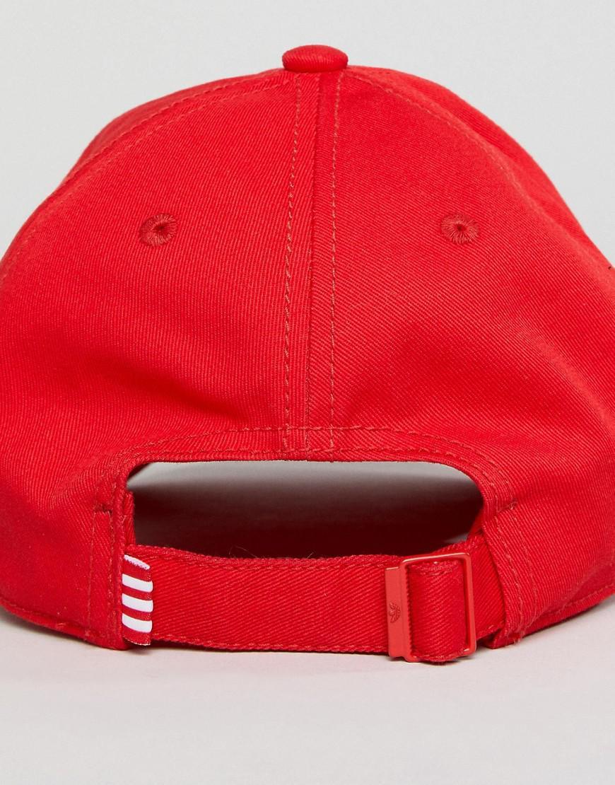 sale retailer d56dd c2c34 good adidas originals logo cap in red lyst. view fullscreen 9ab14 9e4a6