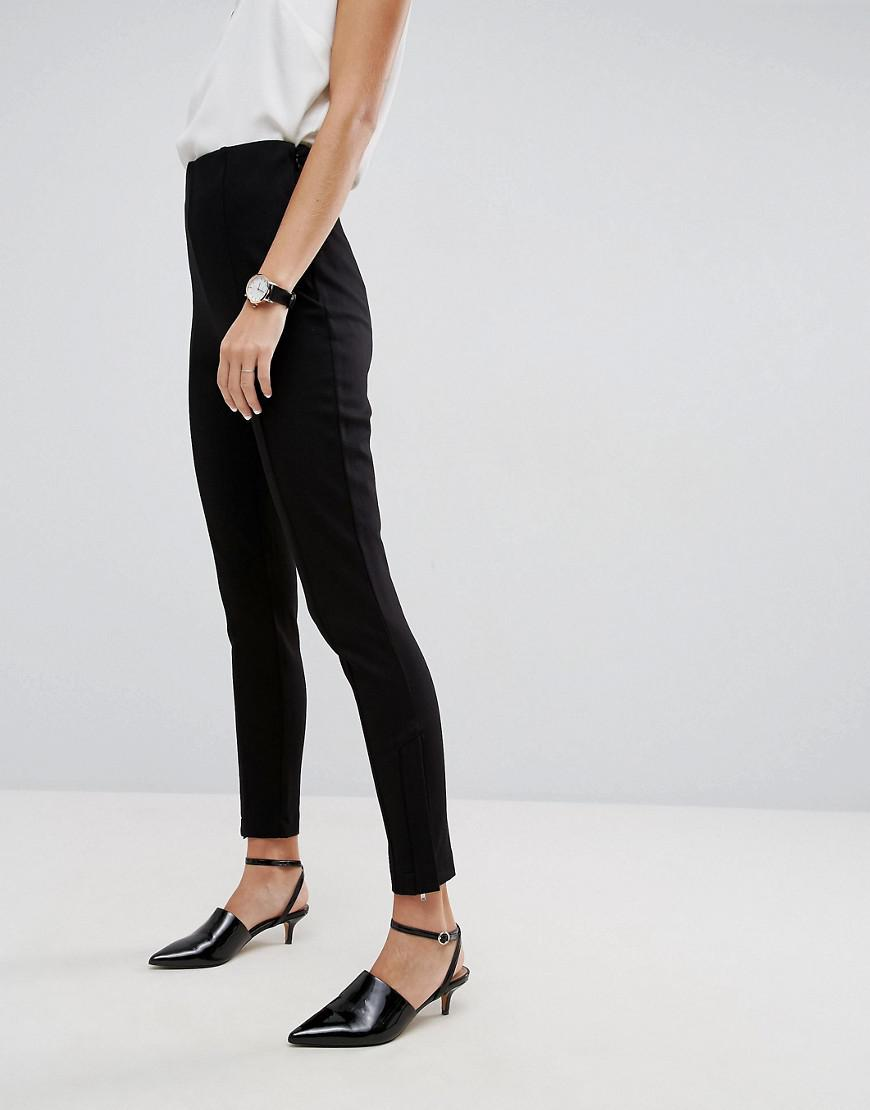1e8be8e5247 Lyst - ASOS Super High Waisted Trousers With Ankle Zips in Black