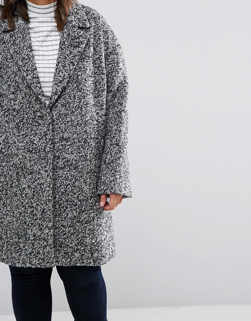 605f8c8d855 ASOS Coat In Cocoon Texture in Black - Lyst