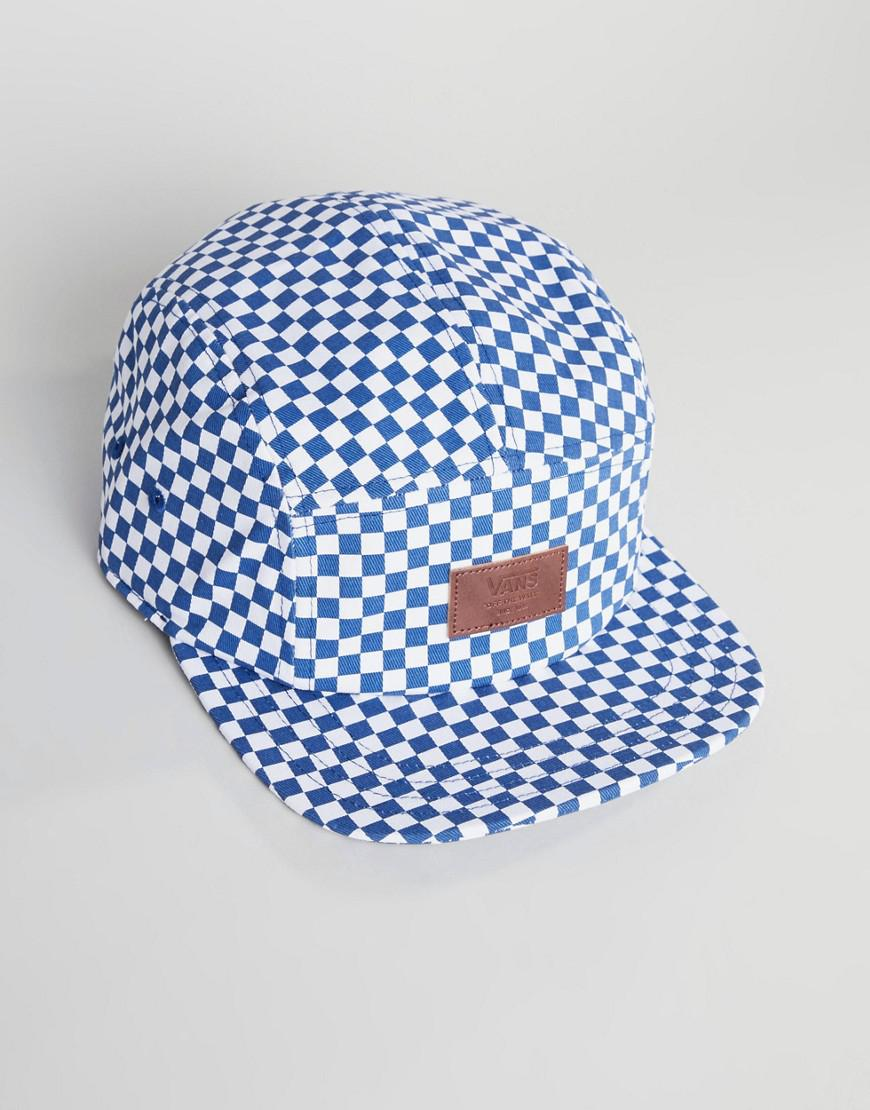 93949d618d3 Vans Checkerboard Snapback In Blue Vn000um2ru61 in Blue for Men - Lyst