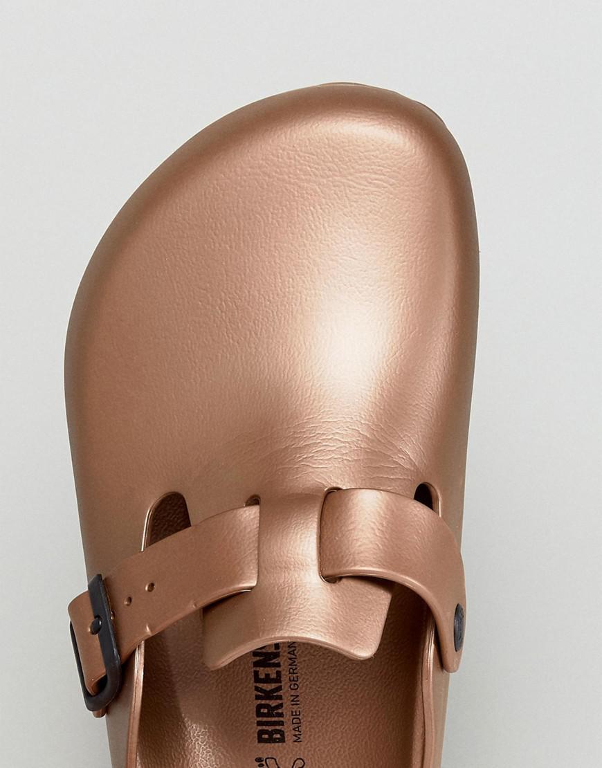 415e1e98add Lyst - Birkenstock Boston Eva Metallic Mules In Copper