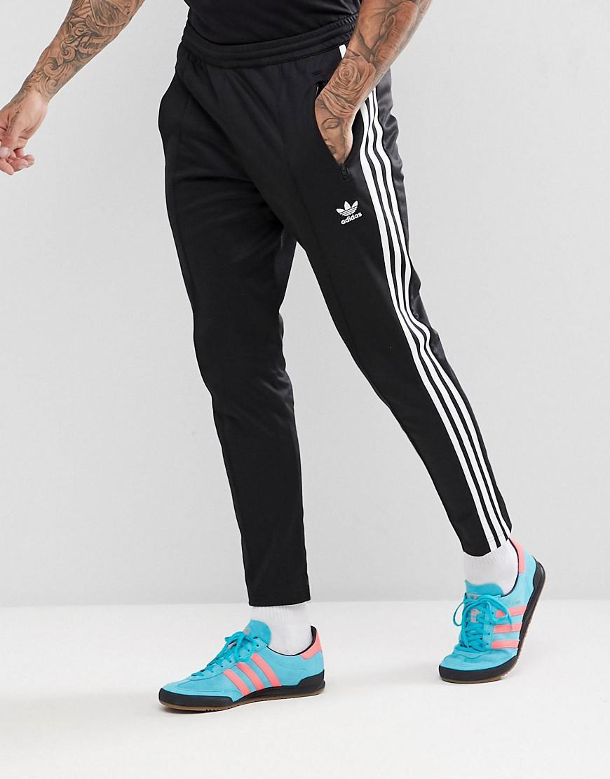 3647937956e0 adidas Originals Adicolor Beckenbauer joggers In Skinny Fit In Black ...
