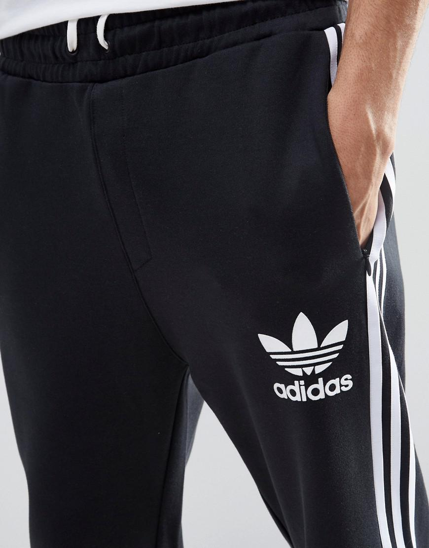 dc24c65ff541 Lyst - adidas Originals Adicolour 7 8 Length Joggers B10722 in Black ...