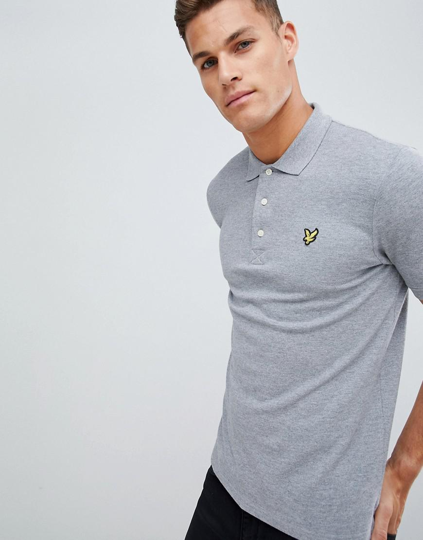 78f4827dc84 Lyle   Scott Logo Pique Polo In Light Grey in Gray for Men - Lyst
