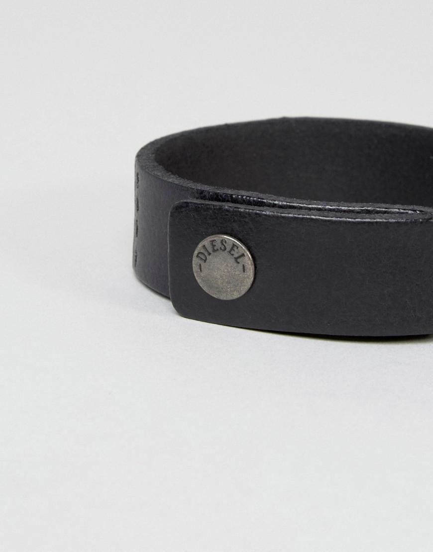 Diesel buckle embellished bracelet - Black SjitJ