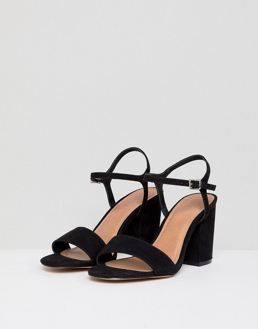 94b5c740af3 ASOS Winter Extra Wide Fit Block Heeled Sandals in Black - Lyst