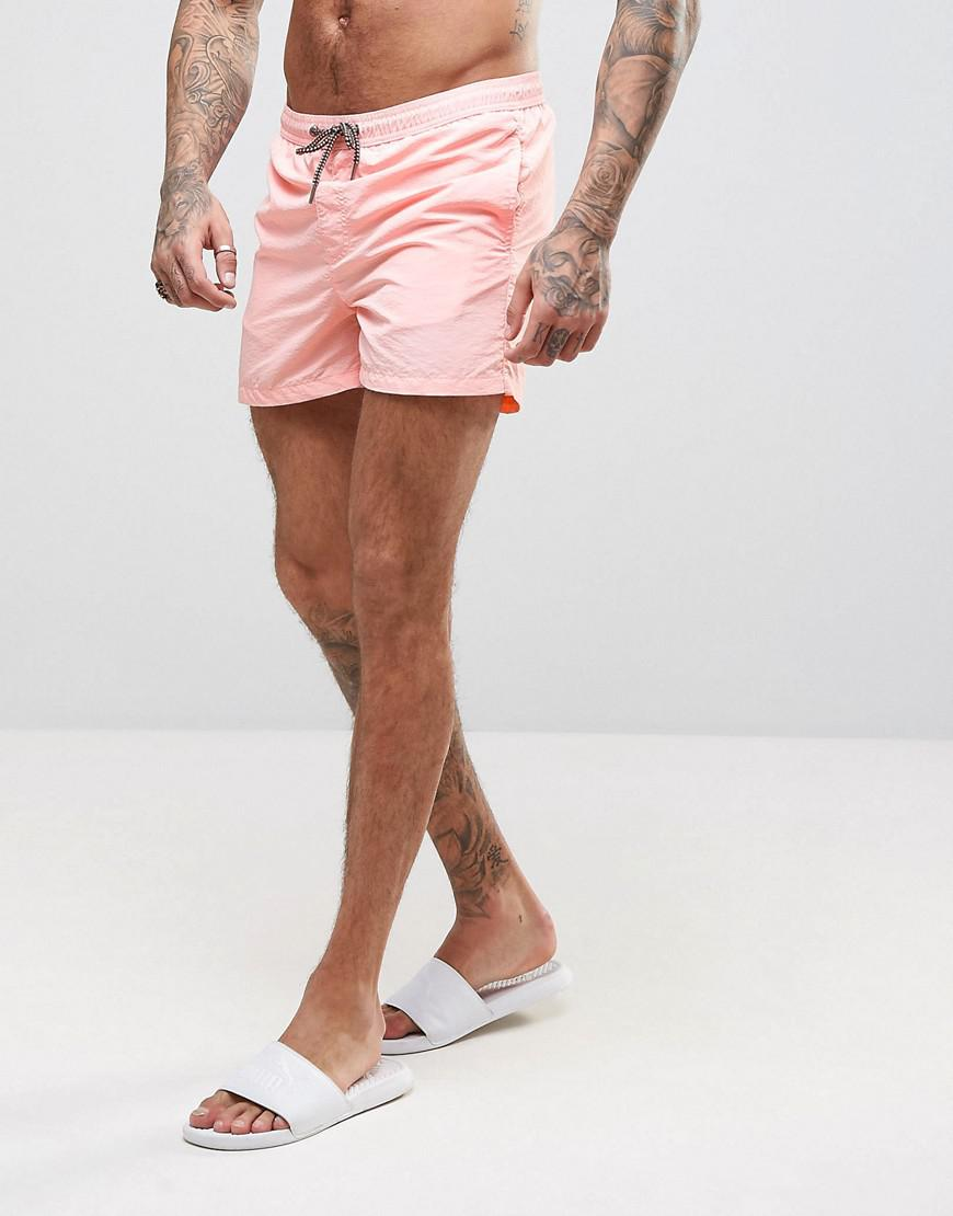 8b0817fa5e3 Jack & Jones Swim Shorts Sunset In Pink in Pink for Men - Lyst