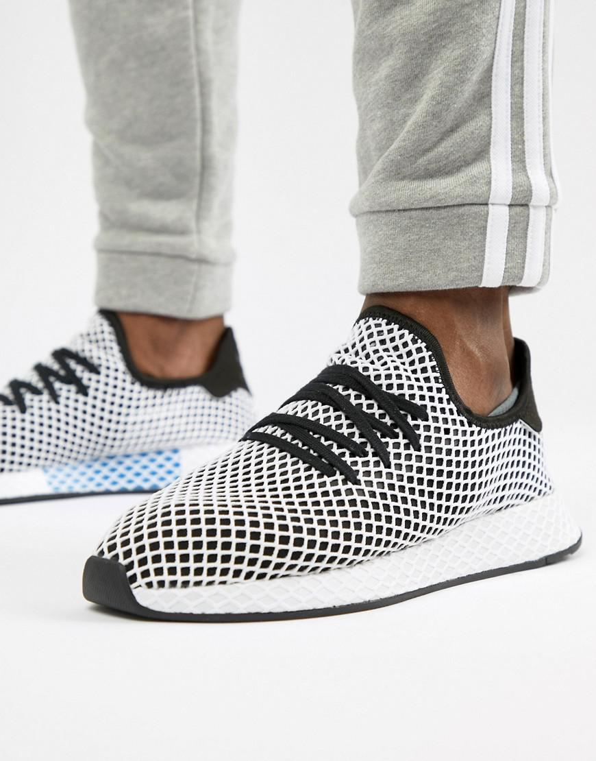 56f91a37cbc498 adidas Originals Deerupt Runner Sneakers In Black Cq2626 in Black ...