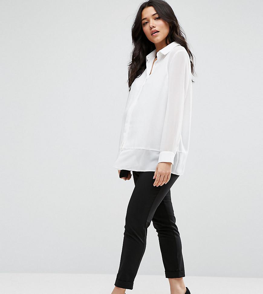 a96e19c825 Lyst - ASOS Work Wear Ankle Grazer Trouser in Black
