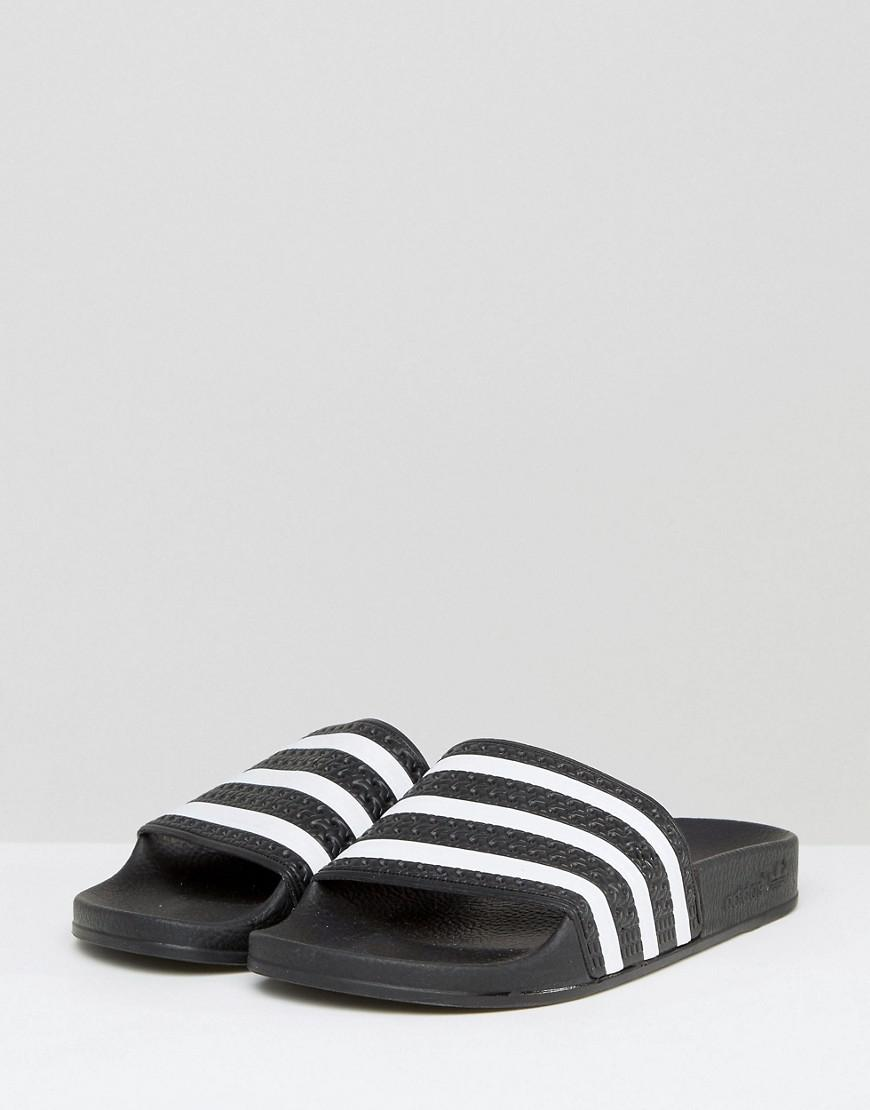 641bc22d9b66d5 Adidas Originals - Originals Adilette Slider Sandals In Black - Lyst. View  fullscreen