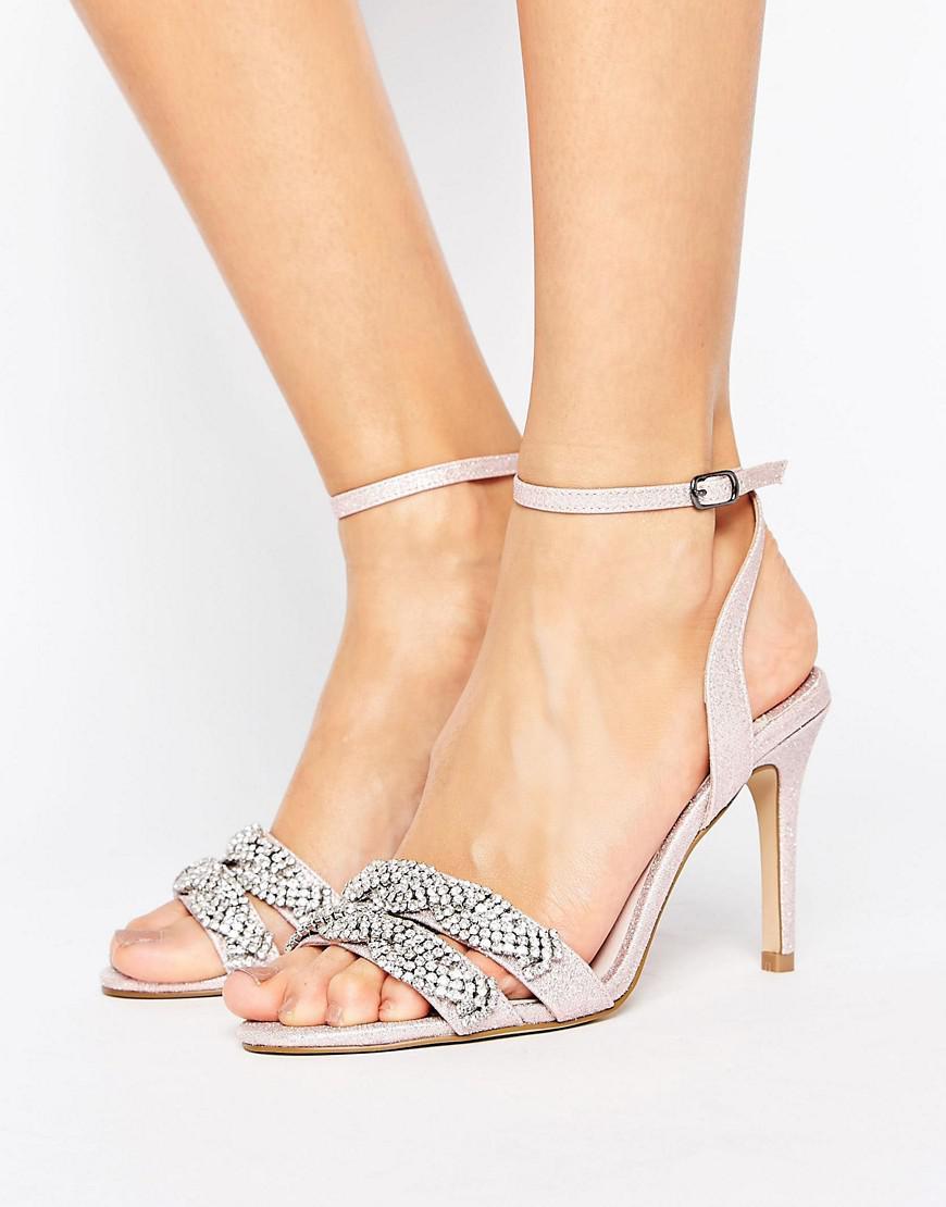 Dash Embellished Heeled Sandals - Pink Faith dyvMJ