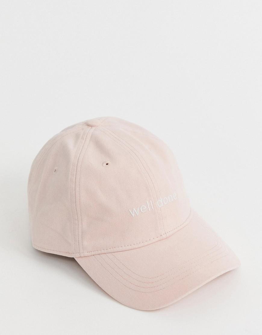 3b41374aea12 Hollister Twill Cap In Pink in Pink for Men - Lyst